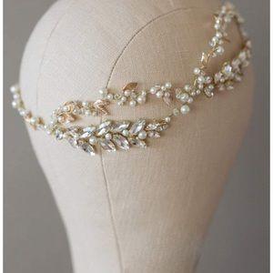 Gold wedding headband